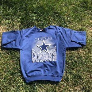 Vintage/Retro Dallas Cowboys Cut Crewneck